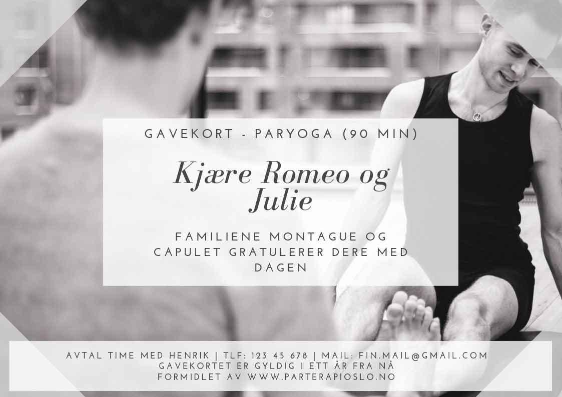gavekort for yoga for par i oslo